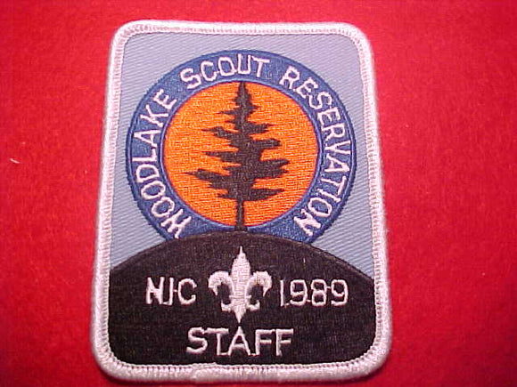 WOODLAKE SCOUT RESERVATION, NORTHERN INDIANA COUNCIL, STAFF, 1989