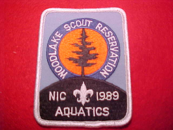 WOODLAKE SCOUT RESERVATION, NORTHERN INDIANA COUNCIL, AQUATICS, 1989