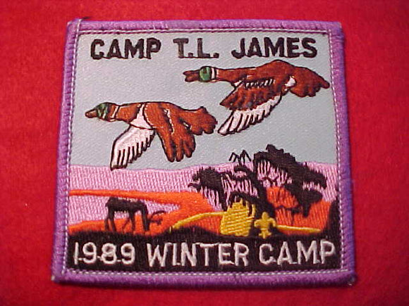 T. L. JAMES, WINTER CAMP, 1989, VIOLET BORDER
