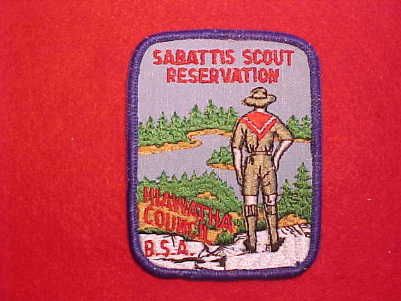 SABATTIS SCOUT RESERVATION, HIAWATHA COUNCIL, LGT BLUE SKY
