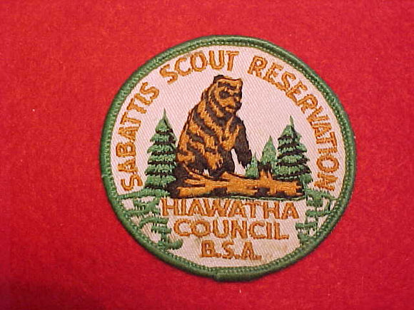 SABATTIS SCOUT RESERVATION, HIAWATHA COUNCIL, 1960'S, USED