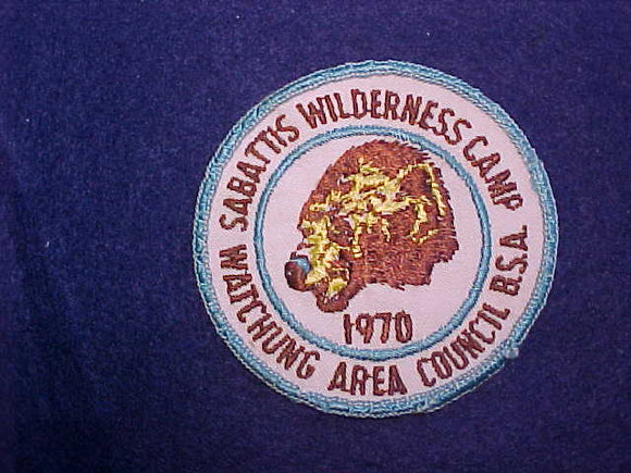 SABATTIS WILDERNESS CAMP, WATCHUNG AREA COUNCIL, 1970, USED