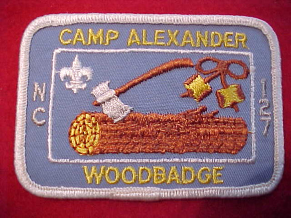 ALEXANDER, WOODBADGE NC-127 COURSE