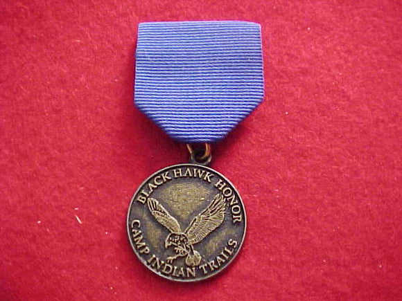 INDIAN TRAILS, BLACHAWK HONOR MEDAL, BLUE RIBBON