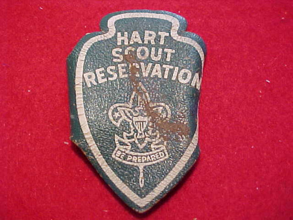 HART SCOUT RESV., N/C SLIDE, 1940'S?, LEATHER, USED