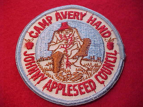 AVERY HAND, 1960'S, JOHNNY APPLESEED C., MINT FRONT-GLUE ON BACK