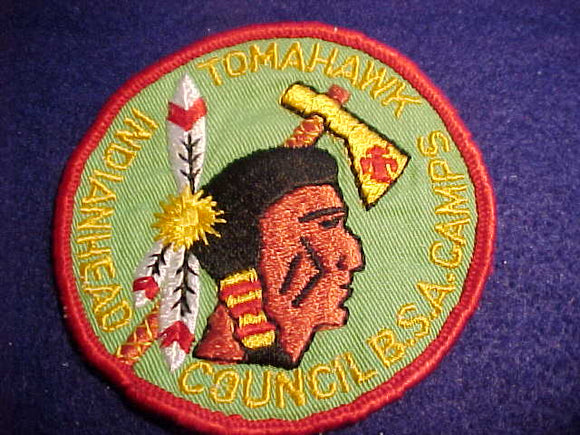 INDIANHEAD COUNCIL CAMPS, 1960'S, TOMAHAWK, USED