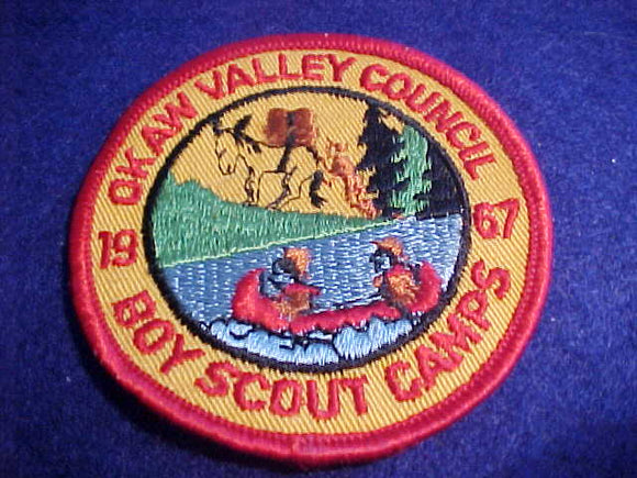 OKAW VALLEY C. BOY SCOUT CAMPS, 1967