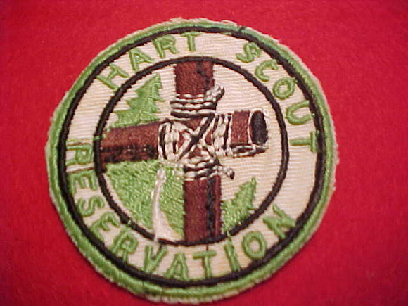 HART SCOUT RESV., 1950'S, NARROW GREEN BDR., USED