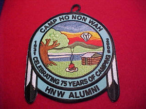 HO NON WAH, 2006, CELEBRATING 75 YEARS OF CAMPING, RED TWILL