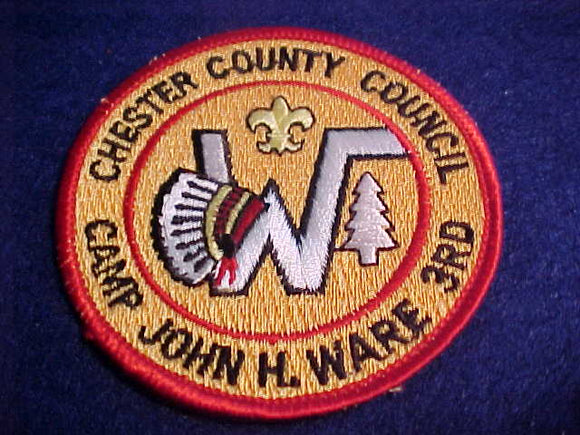 JOHN H. WARE, 3RD, CHESTER COUNTY C., FDL HAS BLACK OUTLINE