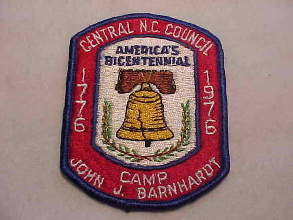 JOHN J. BARNHARDT, 1976, CENTRAL N. C. COUNCIL