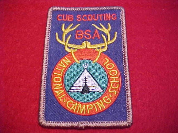 NATIONAL CAMPING SCHOOL, CUB SCOUTING, BLUE TWILL