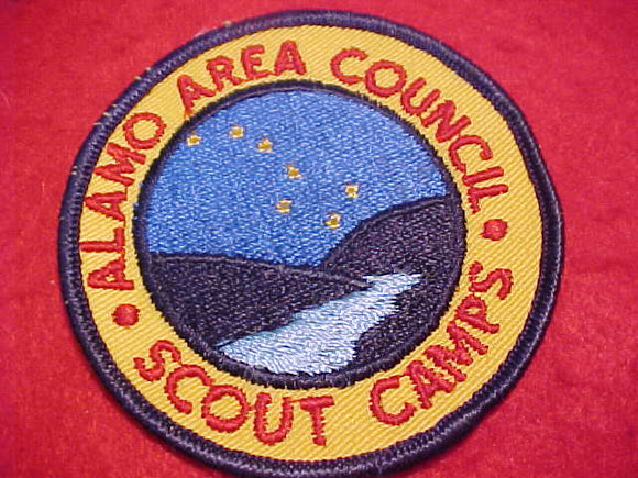 ALAMO COUNCIL SCOUT CAMPS, 1960'S, RED LETTERS