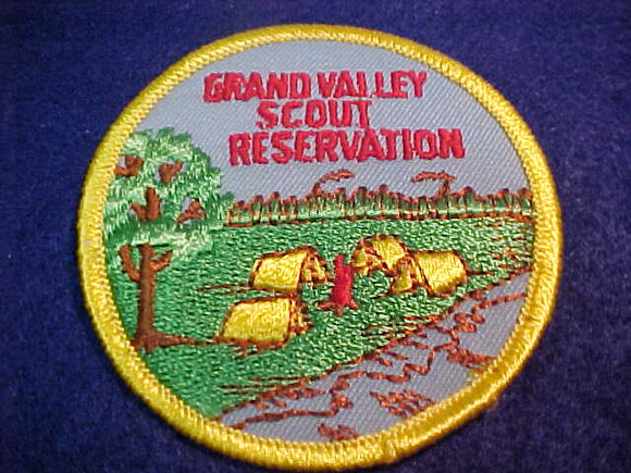 GRAND VALLEY SCOUT RESV., 1973, SMALL BROWN CLOUDS IN SKY, PLASTIC BACK