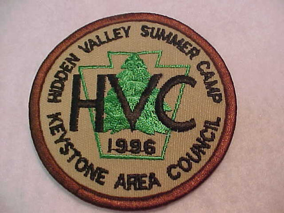 HIDEN VALLEY SUMMER CAMP, 1996, KEYSTONE AREA C.