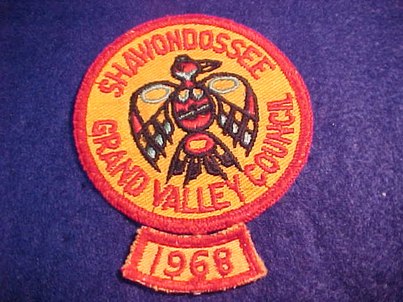 SHAWONDOSSEE, GRAND VALLEY C., 1960'S PATCH + 1968 SEGMENT, USED