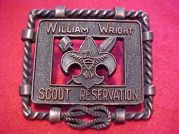 WILLIAM WRIGHT SCOUT RESV. N/C SLIDE, 1960'S, METAL