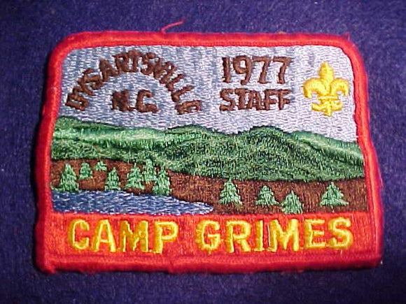 GRIMES PATCH, 1977, STAFF, DYARTSVILLE, N.C., USED