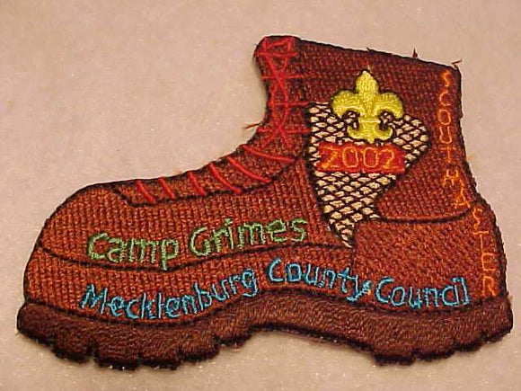 GRIMES PATCH, 2002, SCOUTMASTER, MECKLENBURG COUNTY C.