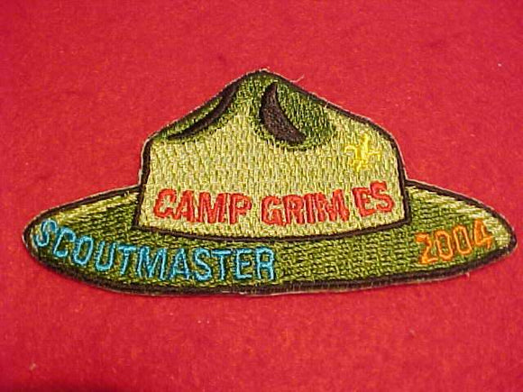 GRIMES PATCH, 2004, SCOUTMASTER
