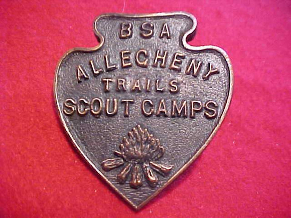 ALLEGHENY TRAILS SCOUT CAMPS N/C SLIDE, 1960'S, METAL