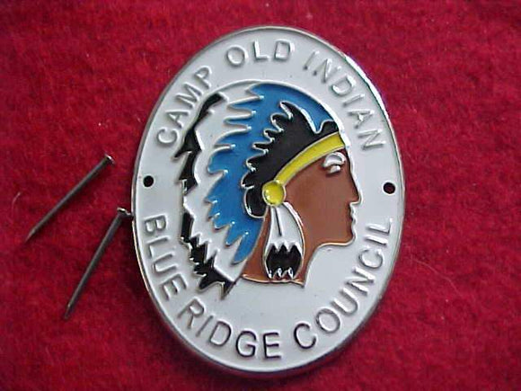 OLD INDIAN HIKING STICK EMBLEM, BLUE RIDGE C.