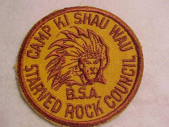 KI SHAU WAU PATCH, 1950'S, STARVED ROCK C.