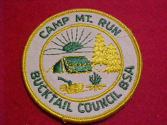 MOUNTAIN RUN PATCH, 1960'S, BUCKTAIL C., YELLOW BDR.