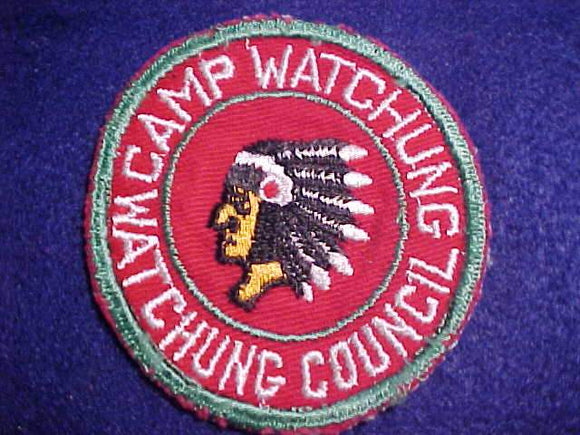 WATCHUNG PATCH, 1950'S, WATCHUNG C., USED