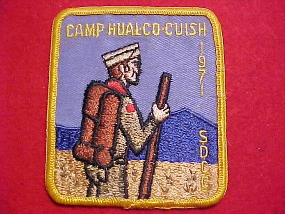 HUAL-CU-CUISH PATCH, 1971, SAN DIEGO COUNTY C.