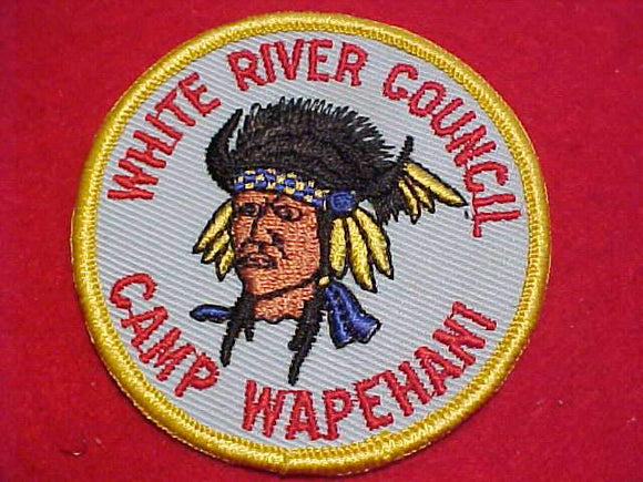 WAPEHANI PATCH, WHITE RIVER C., 1960'S, MINT