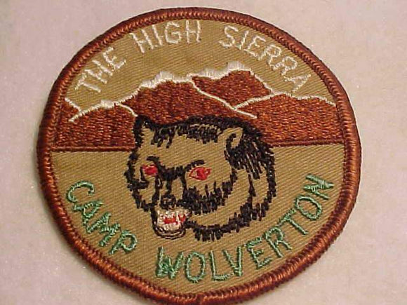 WOLVERTON PATCH, 1960'S, THE HIGH SIERRA, BROWN BDR.