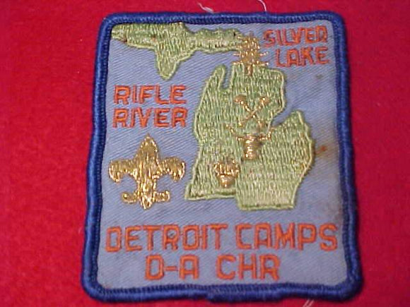 DETROIT AREA COUNCIL CAMPS PATCH, SILVER LAKE/RIFLE RIVER/D-BAR-A/CHARLES HOWELL RESV., USED