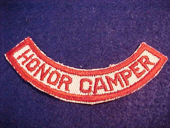 HONOR CAMPER SEGMENT, 1950'S, RED/WHITE