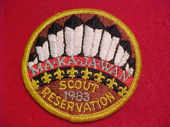 MAKAJAWAN SCOUT RESV. PATCH, 1983, USED
