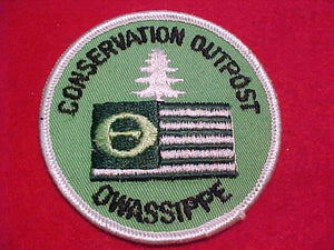 "OWASSIPPE CONSERVATION OUTPOST PATCH (MISSPELLED ""OWASIPPE"")"