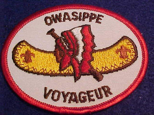 OWASIPPE VOYAGEUR PATCH, CHICAGO AREA COUNCIL