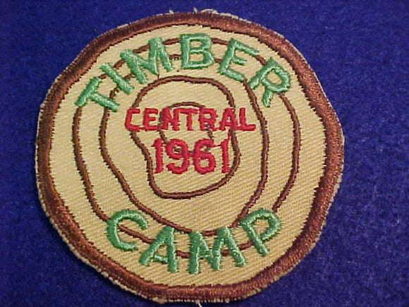 TIMBER CAMP PATCH, CENTRAL, 1961
