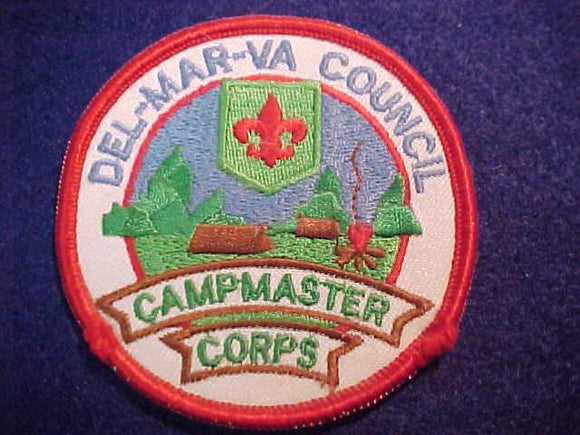 DEL-MAR-VA COUNCIL PATCH, CAMPMASTER CORPS