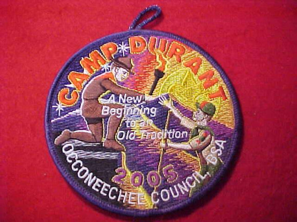 DURANT PATCH, 2005, OCCONEECHEE COUNCIL
