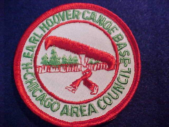 EARL HOOVER CANOE BASE PATCH, CHICAGO AREA COUNCIL