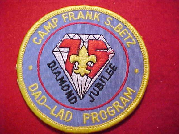 FRANK S. BETZ PATCH, 1985, DAD-LAD PROGRAM