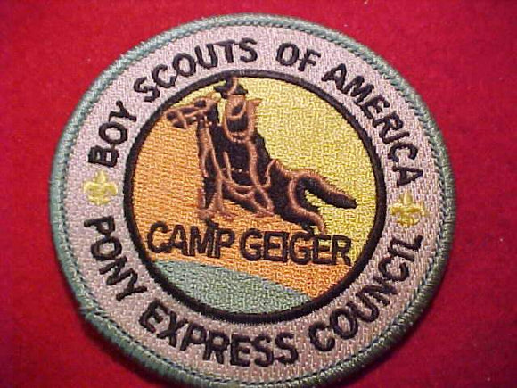 GEIGER PATCH, PONY EXPRESS COUNCIL