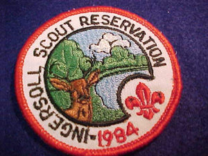 INGERSOLL SCOUT RESV. PATCH, 1984