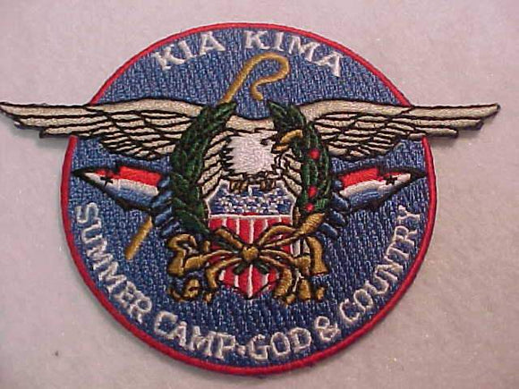 KIA KIMA PATCH, SUMMER CAMP-GOD & COUNTRY