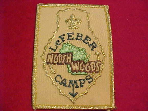 LEFEBER NORTHWOODS CAMPS PATCH, YELLOW TWILL