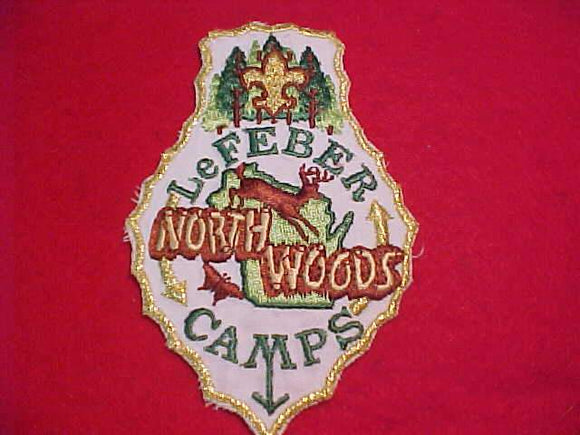 LEFEBER NORTHWOODS CAMPS PATCH, WHITE TWILL
