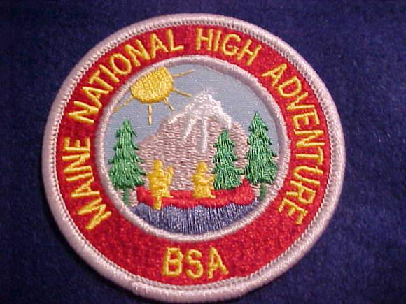 MAINE NATIONAL HIGH ADVENTURE BASE PATCH, 3