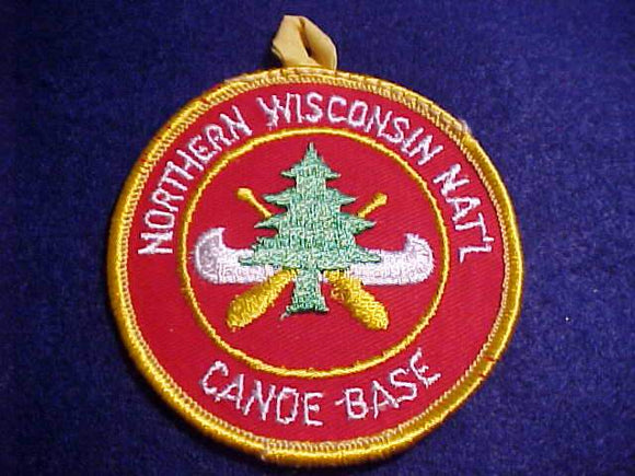 NORTHERN WISCONSIN NAT'N CANOE BASE PATCH, YELLOW BUTTON LOOP, PB